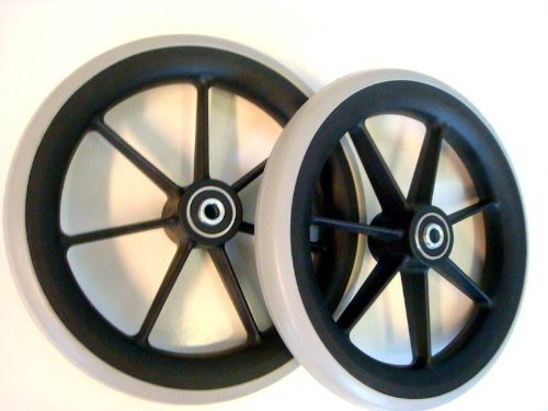 1 pair of 8' Front Castor Wheels for many Standard Wheelchairs 200x27mm