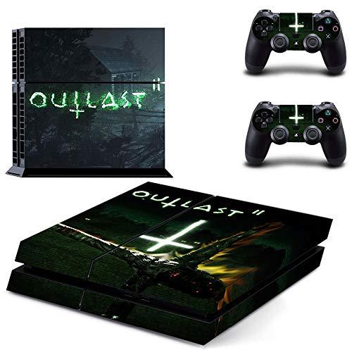 TSWEET Game Outlast Ps4 Skin Aufkleber Aufkleber für Playstation 4 Konsole und 2 Controller Skin Ps4 Aufkleber Vinyl Zubehör