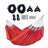 LA SIESTA - Currambera Cherry - Hamaca clásica Doble de algodón Incluye Set de Montaje