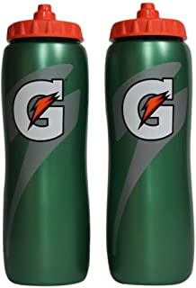 Gatorade 32 Oz Squeeze Water Sports Bottle -Pack of 2 – New Easy Grip Design