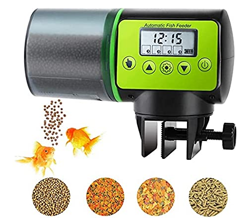 Podazz Distributeur Automatique de Nourriture pour Aquarium résistant à l'humidité - Vert