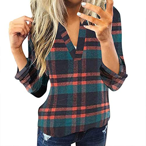 HHOP blusen & Tuniken für Damen Oberteil lila Mode Damen Herbst 2020 top sexy Kaschmir Pullover Damen Jeans Hemd Frauen Hemd Damen weiß Tunika...