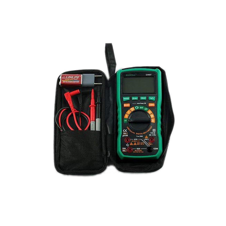 立場無許可祭司ELECALL EM97 静電容量 マルチメータ真 実効値 デジタルマルチメータ LCDバックライト 静電容量/抵抗測定およびバッグ付