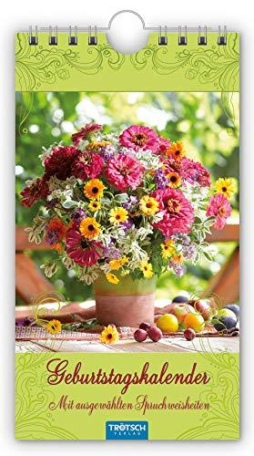Geburtstagskalender 'Blumen': 11 x 20 cm, mit ausgewählten Spruchweisheiten