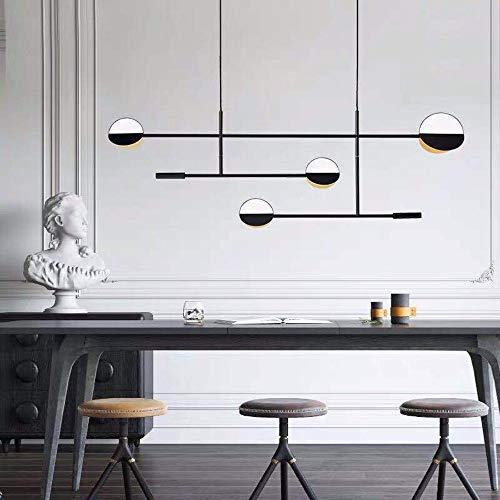 MAONB Moderna Minimalista Creativo Restaurante LED De La Lámpara De La Barra De Metal Nórdico Tabla De Mesa De Diseño Lámpara De Arte Oro Negro Caliente De La Luz