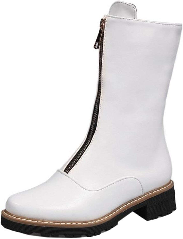 Unm Women's Mid Boots Short Boots Zipper