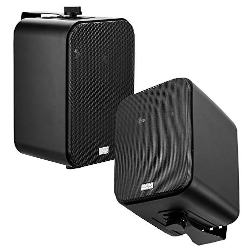 OSD Audio 3-Way Outdoor Patio 4' Speaker Indoor Outdoor Stereo Pair Black AP450