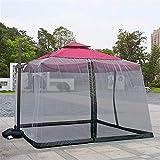 Sombrilla Mosquitera, Sombrilla para jardín al aire libre Su sombrilla en una glorieta 9 / 10FT Mosquitera Sombrilla Cubierta de pantalla 300x300cm Cerramiento al aire libre Insectos Mosquitos Patio