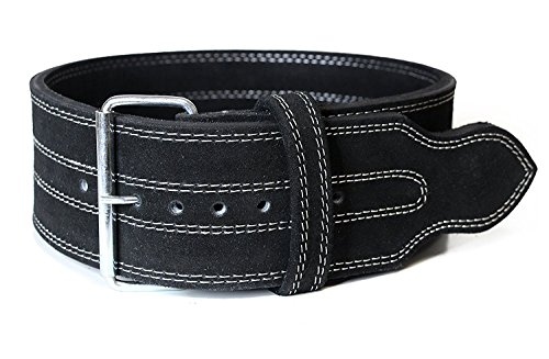 Serious Steel Fitness Leather Weight Lifting Belt | Powerlifting, Weightlifting & Exercise Belt | 4' Wide & 10MM Thick (Single Prong, Small)