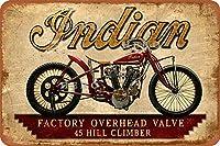 JNDIAN MOTORCYCLE06さびた錫のサインヴィンテージアルミニウムプラークアートポスター装飾面白い鉄の絵の個性安全標識警告アニメゲームフィルムバースクールカフェ40cm*30