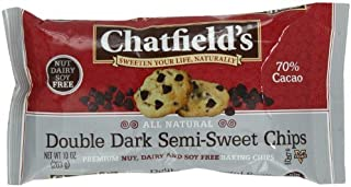 Chatfield'S Semi Sweet Chips Double Dark Chocolate 10 Ounce (Pack Of 12)