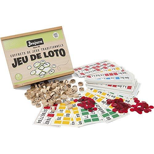 Jeujura - 8139- Jeux de Société-Jeu de Loto - Coffret en Bois
