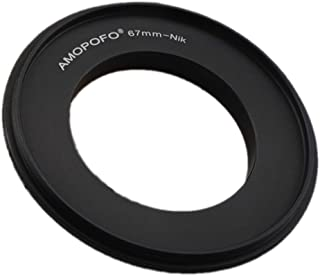 Sourcingmap - Anillo Adaptador de Rosca para cámaras réflex Digitales Nikon D7500 D7100 D7000 D5600 D5200 D500 D90 D810A D7200 D5500 D750 D810 D5300 D3300 DF D610 (55 mm/52/49/67 mm)