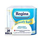 Regina Seriously Soft Indulgent Toilet Tissue, 20 Rolls, Biodegradable Packaging