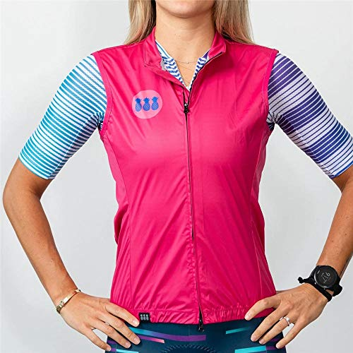 PYMNDZ Tres Pinas Woman Cycling Jersey Sleeveless Water Repellent Lightweight Breathable Macaquinho Ciclismo Feminino Mesh Bike Vest-L