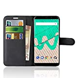 Wiko View Max Case, Anzhao Premium PU Leather Wallet Flip