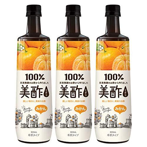 美酢 ミチョ みかん 900ml ×3本 飲む酢 100%果実発酵酢