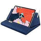 MoKo タブレット枕スタンド ソフトベッド枕ホルダー 11インチまでのパッドに対応 iPad 10.2インチ(第8世代) iPad Air 4 11インチ/ Air 3、iPad Pro 11/10.5/9.7 Mini 5 4 Galaxy Tab S6/ S7 11インチ ネイビーブルー