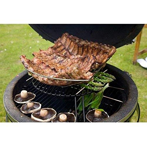 Grill Dome Infinity Series Ceramic Kamado Charcoal Smoker Grill, Blue, Large