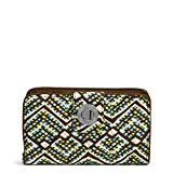 Vera Bradley Signature Cotton Turnlock Wallet with RFID Protection, Rain Forest