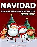 Navidad Libro de colorear para Niños de 4 a 8 Años: 50 imágenes con escenarios navideños que entretendrán a los niños y los involucrarán en actividades creativas y relajantes