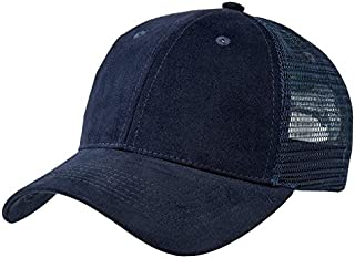 Adults Unisex Plain Mesh Trucker Cap | Stylish Headwear - Navy