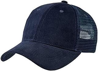Adults Unisex Plain Mesh Trucker Cap | Stylish Headwear - Navy