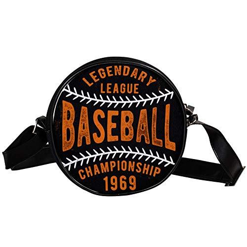 Bennigiry Damen Baseball-Tasche, rund, aus Segeltuch, für Mädchen