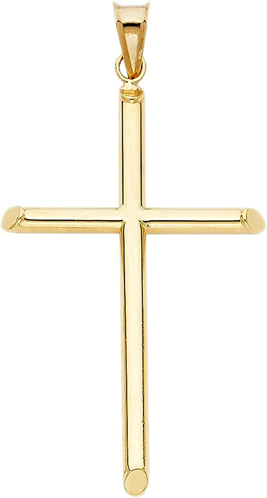 GoldenMine Fine Jewelry Collection 14k NEW Large special price !! Yellow Religious Cro Gold