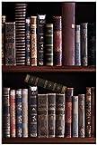 Wallario Poster - Bücherregal mit Alten Büchern in