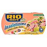 Rio Mare - Insalatissime Delizia di Mais e Tonno Pinne Gialle con Piselli, Carote e Olive, Senza Conservanti, 2 lattine da 160g