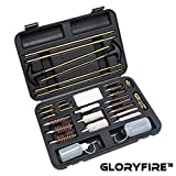 GLORYFIRE Universal Gun Cleaning Kit Hunting Handgun Shotgun and Rifle Cleaning Kit for All Guns with Travel Size Case