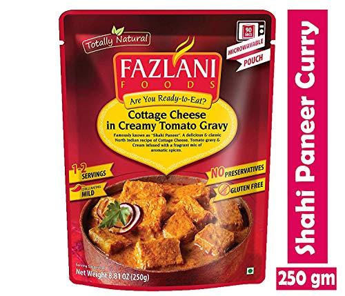 Fazlani les aliments prêts à manger Shahi paneer -Cottage Fromage au Curry Sauce tomate acidulée, -Pack de 1, 250g