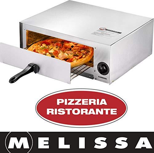 Melissa 16310202 mobiler Pizzaofen, Elektro-Pizzeria, Profi, 1450 Watt, Rücklauf 30 Minuten Timer, Pizza 30 cm,