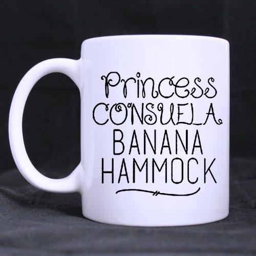LAH Crap Bag Princess Consuela Banana Hammock Coffee Mug Ceramic White Mugs 11 Ounce