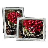 [Amazonブランド] Umi.(ウミ) フォトフレーム 六っきり 輝きガラス製 額縁 写真フレーム 部屋 飾り おしゃれ 誕生日 母の日 記念日用 2枚セット