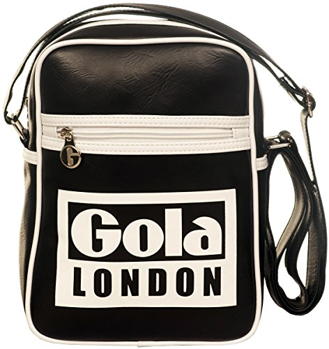 Borsa GOLA Verticale Mini Bronson London - ZCUB389bw 27x20 - Black/White