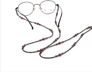catene di vetro da donna con perle di vetro catena in vetro per la lettura e il supporto per occhiali con cordino per donne anziane e anziane Catercing