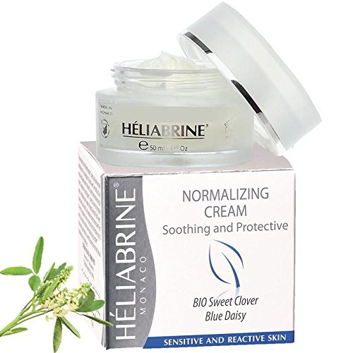 Heliabrine Normalizing Moisturizer Cream with Organic Sweet Clover 50ml. Best Anti Redness Cream.