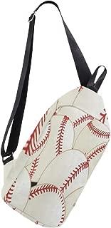 Crossbody Sling Backpack Pattern Baseball Chest Shoulder Bags Multipurpose for Men/Women