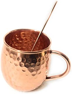 APRATIM Mule Mugs Hammered Brass Drinking Pure Solid Cooper Cups
