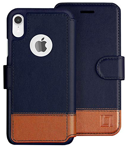 LUPA iPhone XR Wallet case, Durable and Slim, Lightweight with Classic Design & Ultra-Strong Magnetic Closure, Faux Leather, Desert Sky, for Apple XR