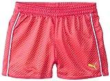 PUMA Big Girls' Active Double Mesh Short, Pink Glo, 16 (X-Large)