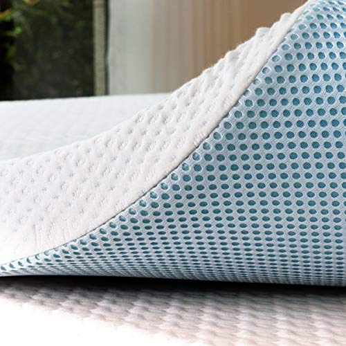 subrtex 2 Inch Mattress Topper Gel Infused Memory Foam Cooling Pad...