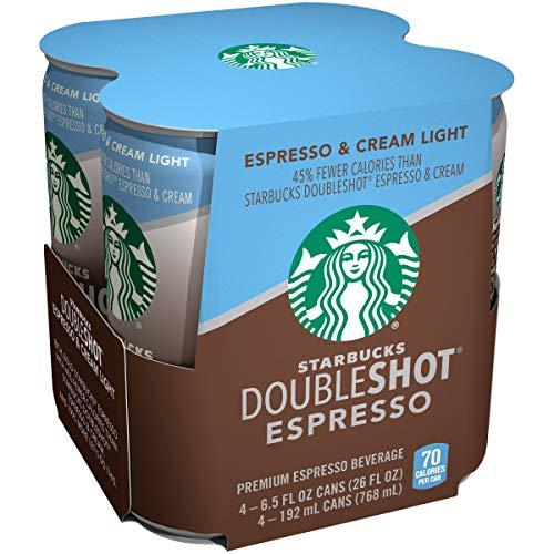Starbucks Doubleshot Espresso Plus Cream Light, 6.5 Ounce (24 pack)