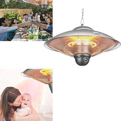 ZDYLM-Y Electric Patio Heater, 2 Levels Adjustable Indoor/Outdoor Heater, Infrared Heater, Overheat Protection, Tip-Over Shut Off