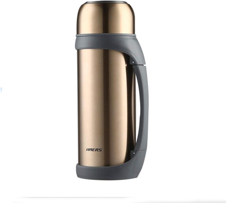 Pot d'isolation, pot de voyage en plein air, 2L   2,2L, Thermos à vide en acier inoxydable, Thermos, bouteille de sport, plusieurs couleurs (capacité   2.2L, Couleur   or)