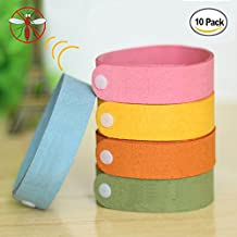 Scentpellent Mosquito Bracelets 10pcs, 100% All Natural Plant-Based Oil Mosquito Bands, Travel Insect Bracelet, Soft Material for Kids & Adults, Keeps Insects & Bugs Away