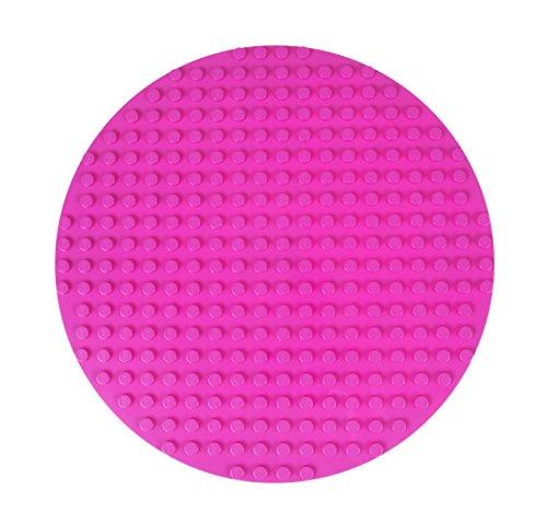 """Premium-Bauplatte rund - kompatibel mit großen Bausteinen Aller führenden Marken - nur für Steine mit großen Noppen geeignet - 12,5"""" (31,75 cm) Durchmesser - Magenta"""