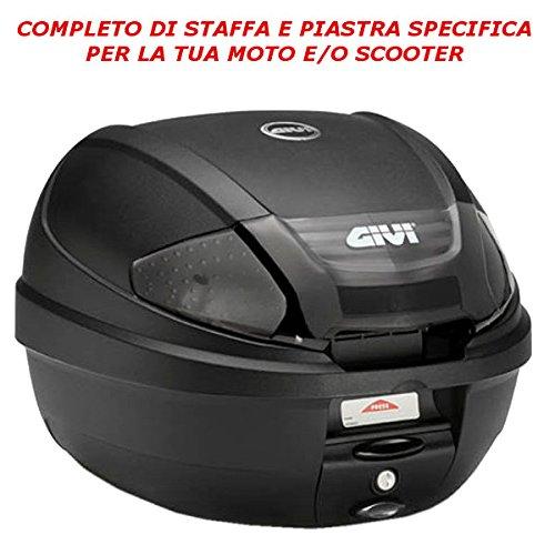 Baúl Baúl Maleta Trasera GIVI catadriotti Neri 30lt e300nt2+ sr1136Honda PCX 1502010> 2017Monolock Moto y Scooter